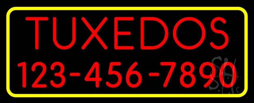Tuxedos With Phone Number Neon Sign