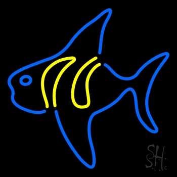 Fish 3 neon sign animals neon signs neon light for Fish neon sign