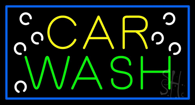 Car Wash Blue Border Neon Sign  Automotive Neon Signs. Graffiti Lettering. Carved Alphabet Lettering. Driftwood Signs Of Stroke. Yak Logo. Psd Lettering. Evil Rabbit Car Stickers. Nature Signs Of Stroke. Coloring Book Murals