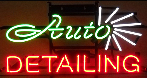 Auto Detailing Logo Neon Sign