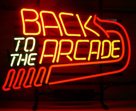 Back To The Arcade Neon Sign | Retro Neon Signs