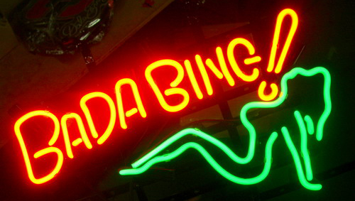 Bada Bing Logo Neon Sign