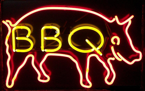 Bbq With Pig Neon Sign