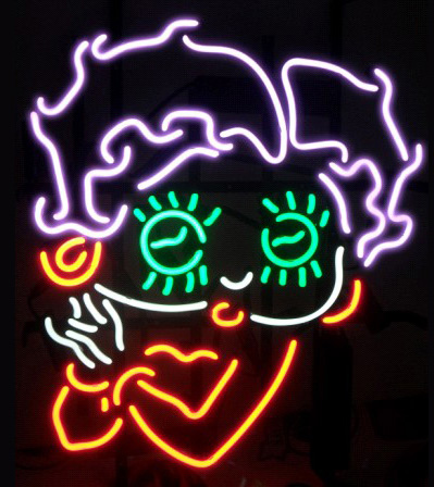 Betty Boop Logo Neon Sign