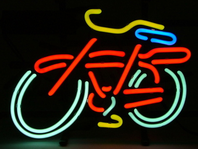 Bicycle Logo Neon Sign