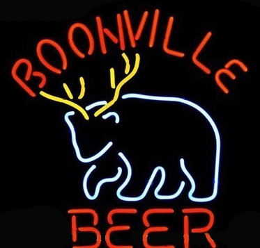 Boonville Deer Logo Neon Sign