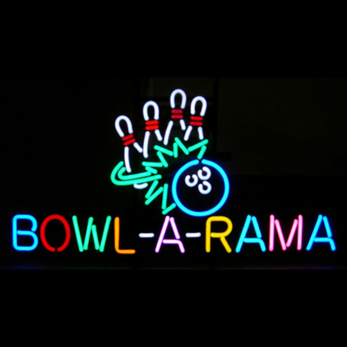 Bowl A Rama Bowling Neon Sign