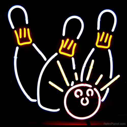 Bowling Game Neon Sign