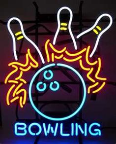 Bowling Logo Neon Sign