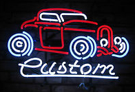 Custom Red Car Logo Neon Sign
