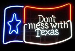 Dont Mess With Texas Logo Neon Sign