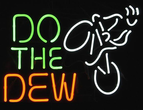 Do The Dew Mountain Bike Logo Neon Sign