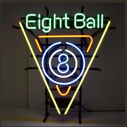 Eight Ball Logo Neon Sign