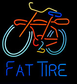 Fat Tire Bicycle Logo Neon Sign