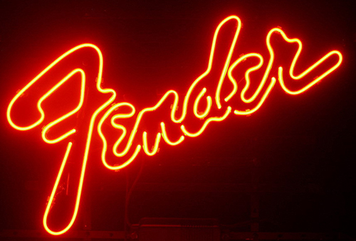 Fender Logo Neon Sign
