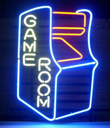 Gameroom Retro Logo Neon Sign