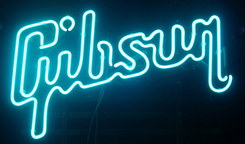 Gibson Guitar Music Logo Neon Sign