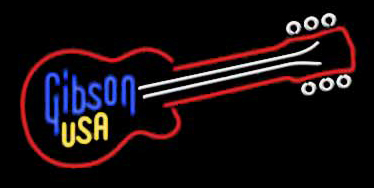 Gibson Usa Guitar Neon Sign