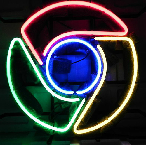 Google Chrome Advertising Logo Neon Sign