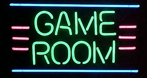 Green Game Room Neon Sign