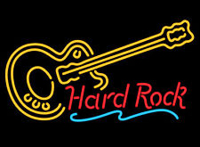 Hard Rock With Guitar Neon Sign