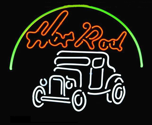 Hot Rod Car Logo Neon Sign