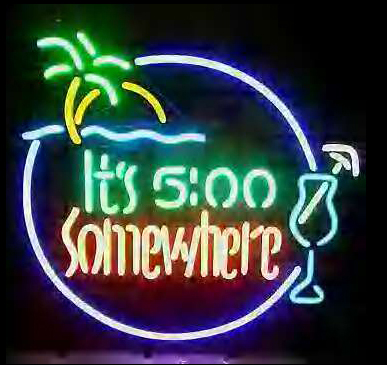 Its 5 O Clock Somewhere Logo Neon Sign