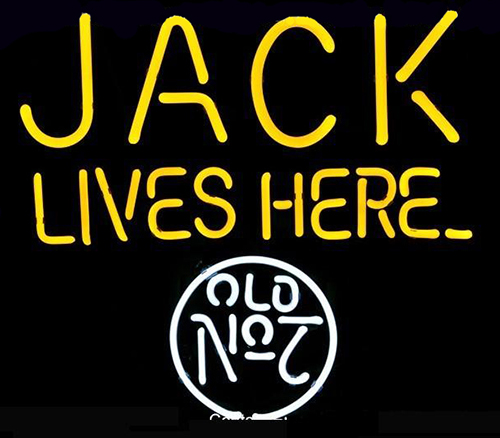 Jack Lives Here No7 Logo Neon Sign