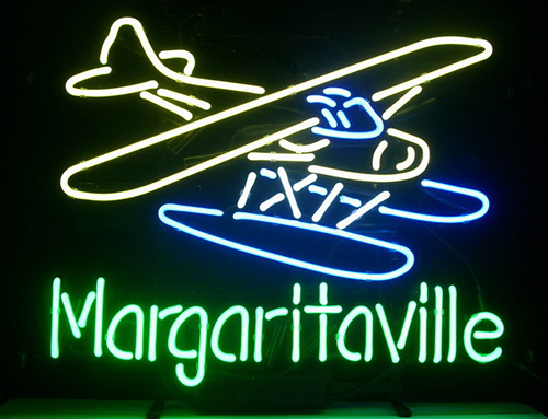 Jimmy Buffett Margaritaville Airplane Logo Neon Sign