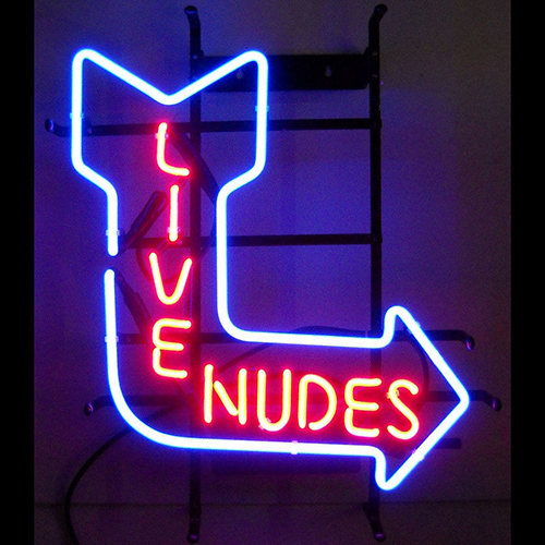 Live Nudes Logo Neon Sign
