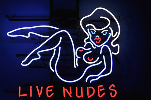 Live Nudes Sexy Naked Girl Adult Logo Neon Sign