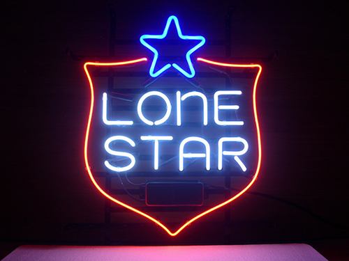 Lone Star Logo Neon Sign