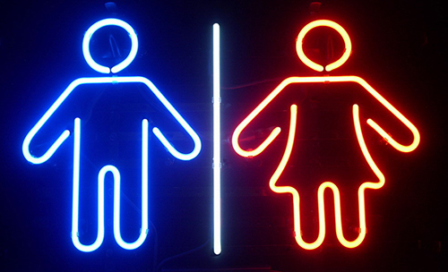 Male Female Restroom Neon Sign