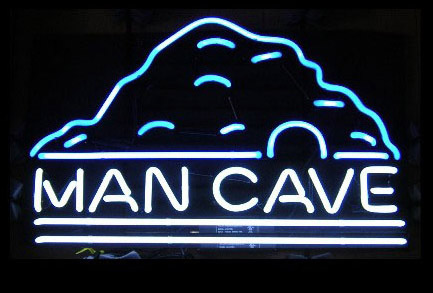 Mancave Mountain Logo Neon Sign