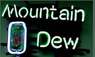 Mountain Dew Soda Logo Neon Sign