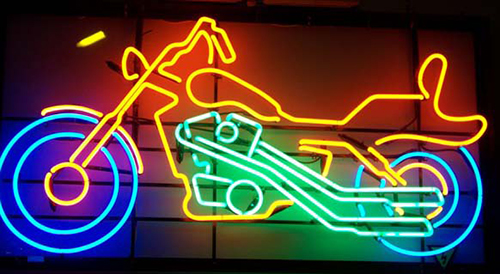 Multi Color Bike Neon Sign