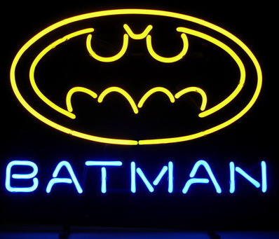 New Batman Superhero Comic  Logo Neon Sign