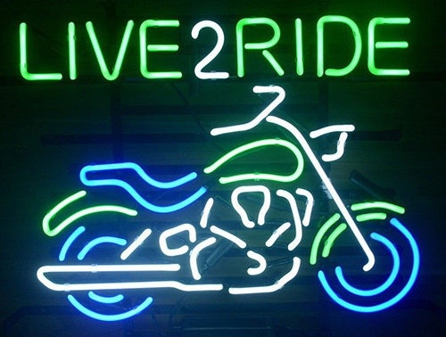 New Harley Motorcycle Love 2 Ride Ride Em Logo Neon Sign