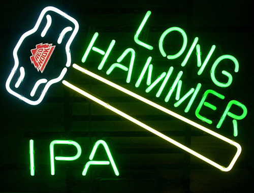 New Redhook Long Hammer Ipa Logo Neon Sign