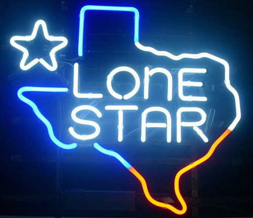 New Texas Lone Star Logo Neon Sign