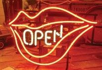 Open Lips Logo Neon Sign