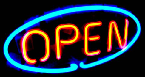 Open Oval Neon Sign