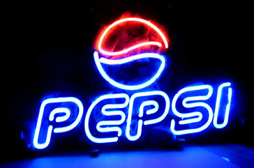Pepsi Soda Logo Neon Sign