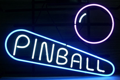 Pinball Logo 1 Neon Sign