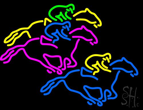 Racing Horses Neon Sign   Games Neon Signs   Neon Light