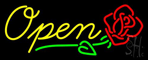 Open Rose Neon Sign Flower Neon Signs Neon Light