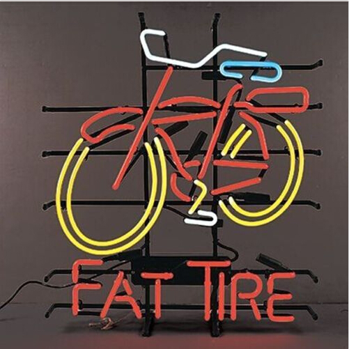 Fat Tire Bicycle Neon Sign