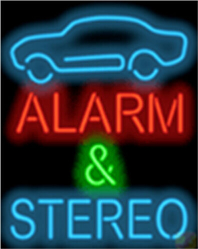 Alarm Stereo Automotive Car Neon Sign