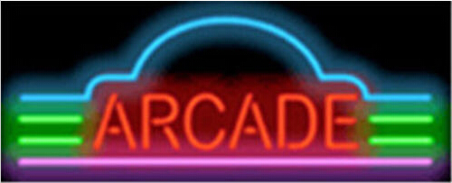 Arcade Home Listing Decor Neon Sign