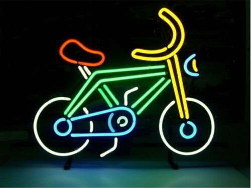 Bike Bicycle Riding Neon Sign
